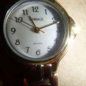 Timex Watch Carriage SS Back, New Battery